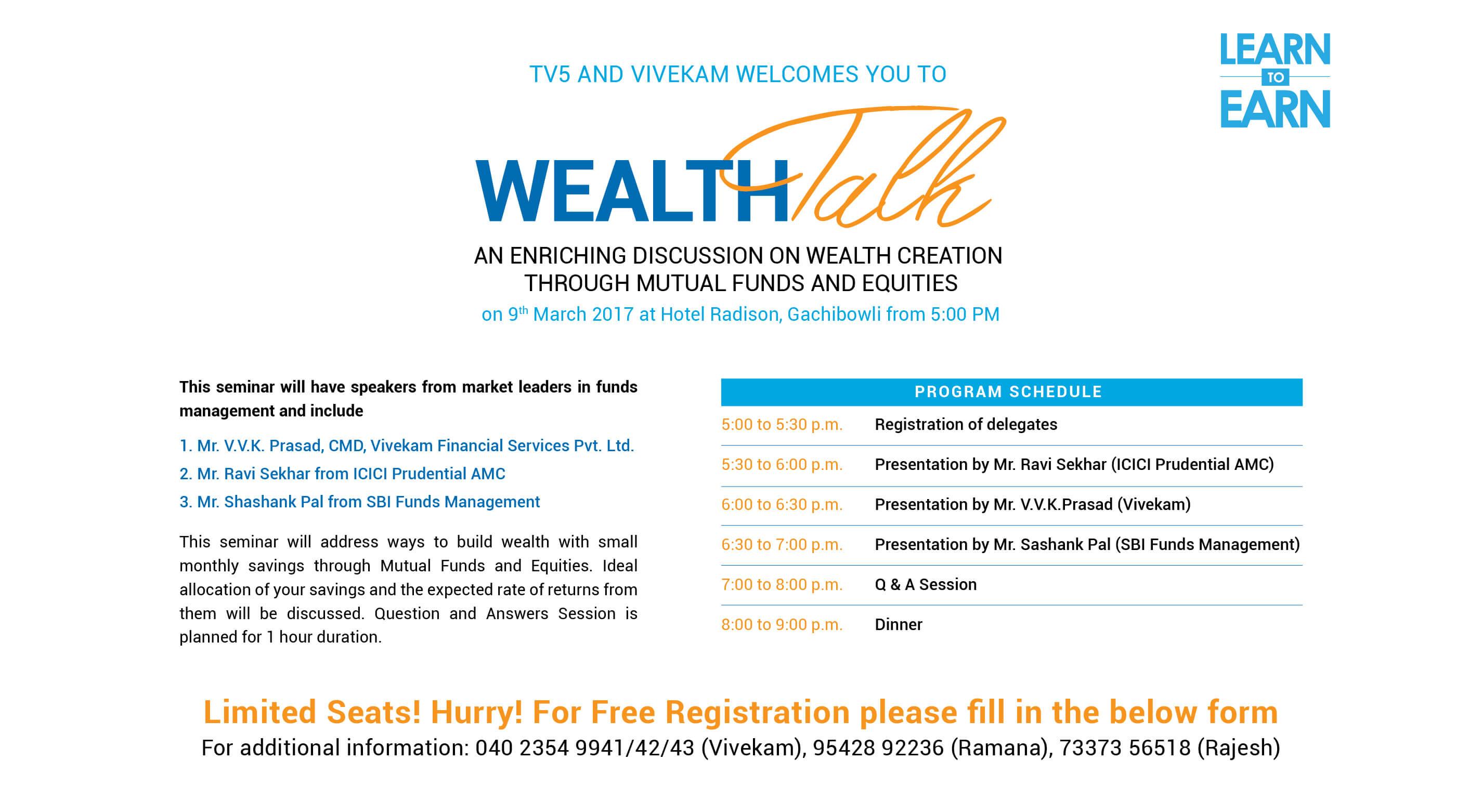 Wealth Talk on 09th March 2017